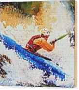 The Kayak Racer 17 Wood Print by Hanne Lore Koehler
