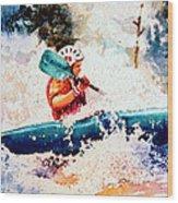 The Kayak Racer 18 Wood Print
