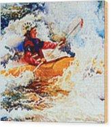 The Kayak Racer 19 Wood Print