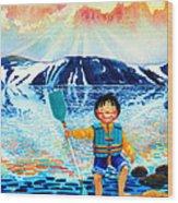 The Kayak Racer 5 Wood Print