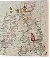 The Kingdoms Of England And Scotland Wood Print