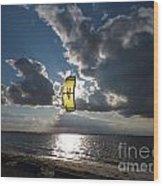 The Kite Wood Print