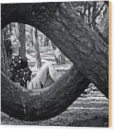 The Lady Of The Dancing Trees Wood Print