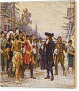 The Landing Of William Penn, 1682 Wood Print
