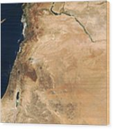 The Lands Of Israel Along The Eastern Wood Print by Stocktrek Images
