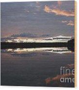 The Last Glow Wood Print by Heiko Koehrer-Wagner