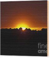 The Last Light - 5 Wood Print