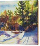 The Last Traces II Wood Print