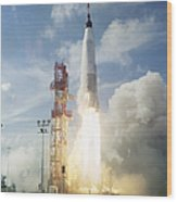 The Launch Of The Mercury-atlas 4 Wood Print