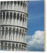 The Leaning Tower Of Pisa Italy Wood Print