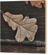 The Leaves Wood Print