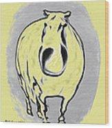 The Legend Of Fat Horse Wood Print