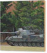 The Leopard 1a5 Main Battle Tank In Use Wood Print by Luc De Jaeger
