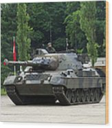 The Leopard 1a5 Mbt Of The Belgian Army Wood Print