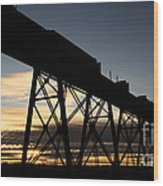 The Lethbridge Bridge Wood Print