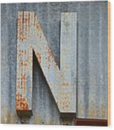 The Letter N Wood Print