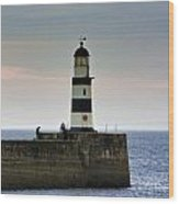 The Light Seaham Harbour Wood Print