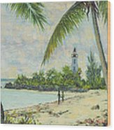 The Lighthouse - Zanzibar Wood Print