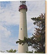 The Lighthouse At Cape May New Jersey Wood Print by Bill Cannon