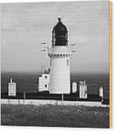 The Lighthouse At Dunnet Head Most Northerly Point Of Mainland Britain Scotland Wood Print