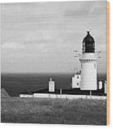 The Lighthouse At Dunnet Head Most Northerly Point Of Mainland Britain Scotland Uk Wood Print