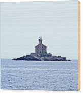 The Lighthouse Close To Primosten Wood Print
