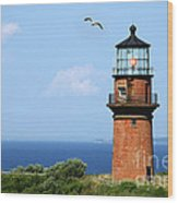 The Lighthouse On Martha's Vineyard Wood Print