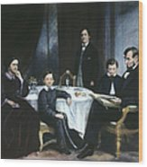 The Lincoln Family Wood Print