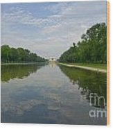 The Lincoln Memorial And Reflecting Pool Wood Print