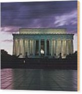 The Lincoln Memorial At West End Wood Print