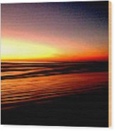 The Lines Of Sunrise  Wood Print