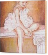 The Little Ballerina Wood Print