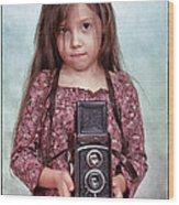 The Little Photographer Wood Print