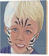 The Littlest Zebra Wood Print