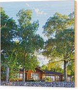 The Log Cabin Wood Print