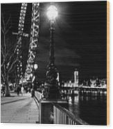 The London Eye At Night Wood Print