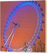 The London Eye Wood Print