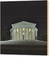 The Lonely Tourist At Jefferson Memorial Wood Print by Metro DC Photography