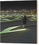 The Lonely Tourist At Pentagon Memorial Wood Print by Metro DC Photography
