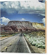 The Long And Lonely Road Wood Print by Ellen Heaverlo