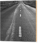 The Long Road Home . 7d9898 . Black And White Wood Print by Wingsdomain Art and Photography