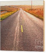 The Long Road Home . Painterly Style Wood Print