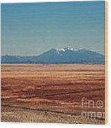 The Long Road To The Meteor Crater In Az Wood Print