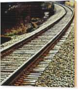 The Long Way Home Wood Print by Karen Wiles