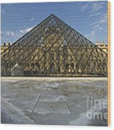 The Louvre Pyramid Paris Wood Print
