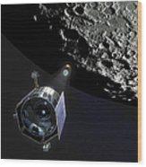 The Lunar Crater Observation Wood Print