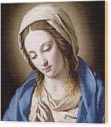 The Madonna Praying Wood Print
