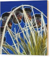 The Magic Ferris Wheel Ride Wood Print