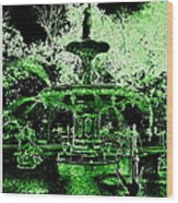 Green Savannah Wood Print
