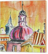 The Magical Roofs Of Prague 01 Bis Wood Print